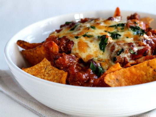 Try serving the chili con carne on top of nacho chips, add grated ...